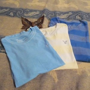 American Eagle Basic Tees Lot of 3 size L